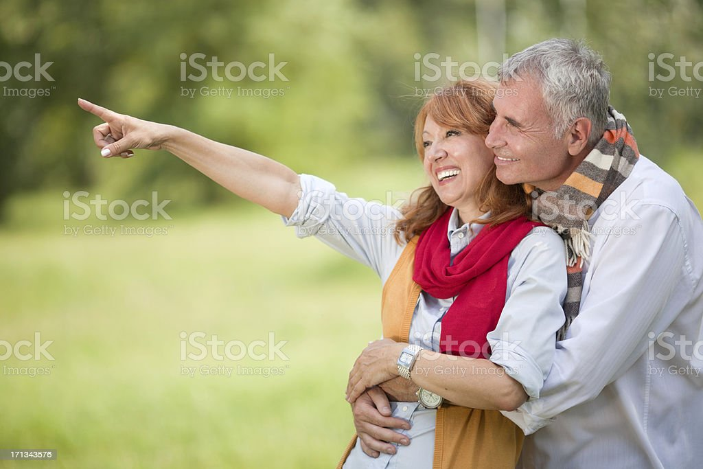 Happy mature couple outdoor royalty-free stock photo