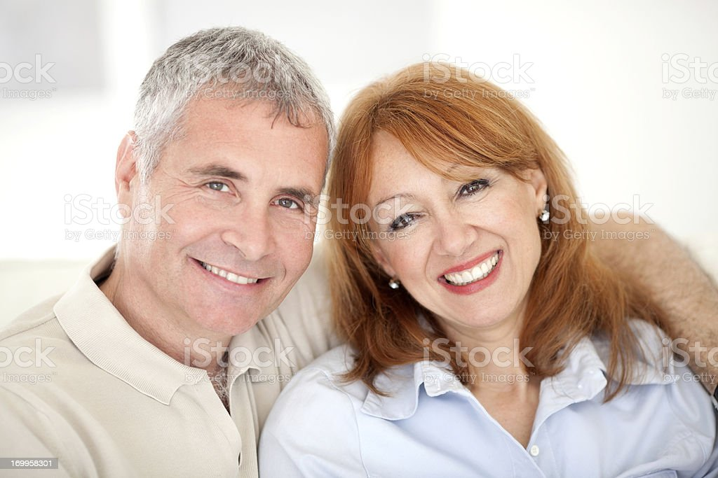 Happy mature couple. royalty-free stock photo