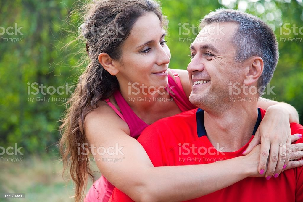 happy mature couple royalty-free stock photo