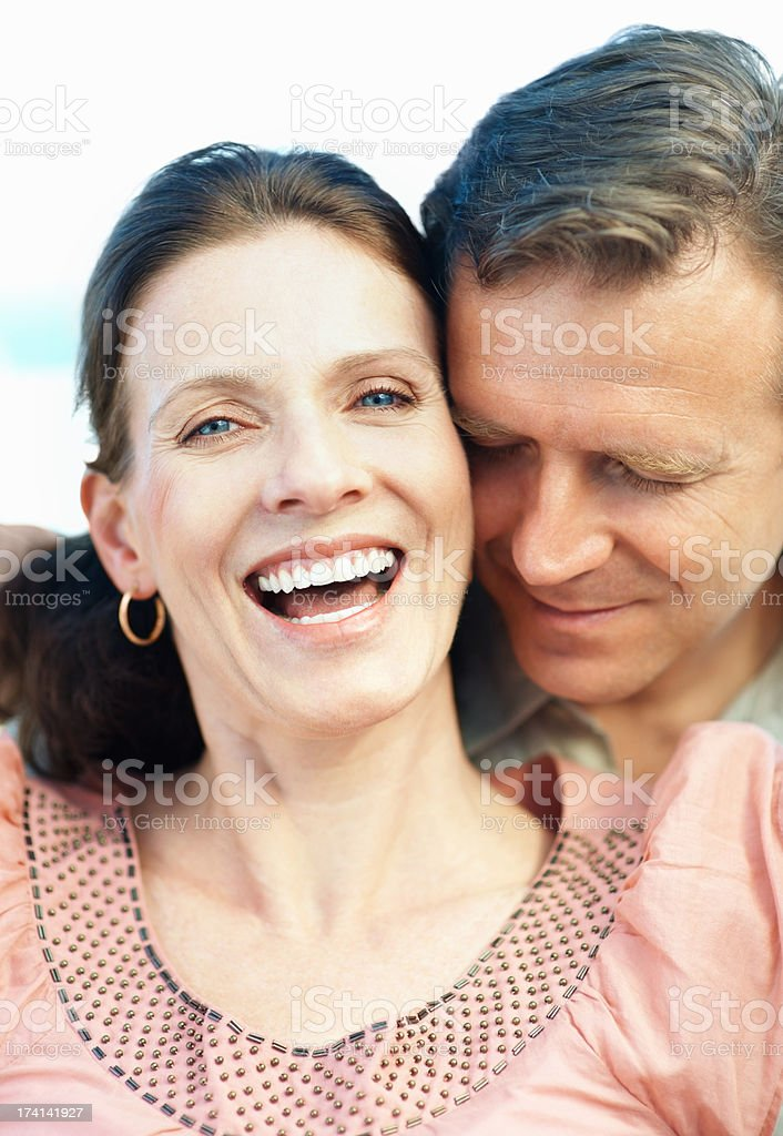 Happy mature couple spending a romantic time together stock photo