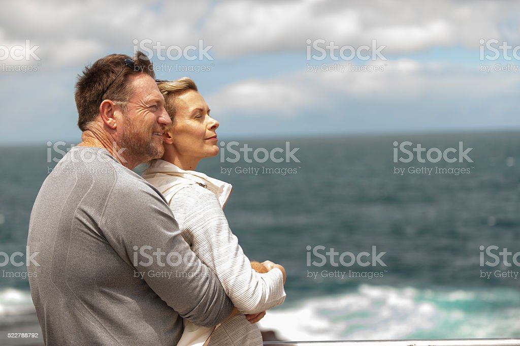 Happy Mature Couple Spending Time together at Outdoor stock photo
