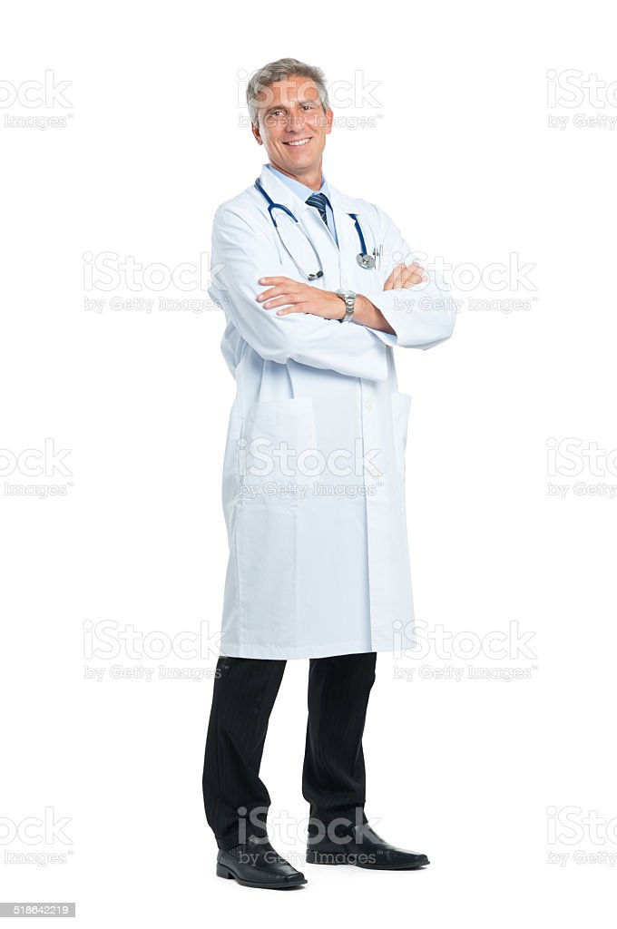 Happy Mature Doctor stock photo