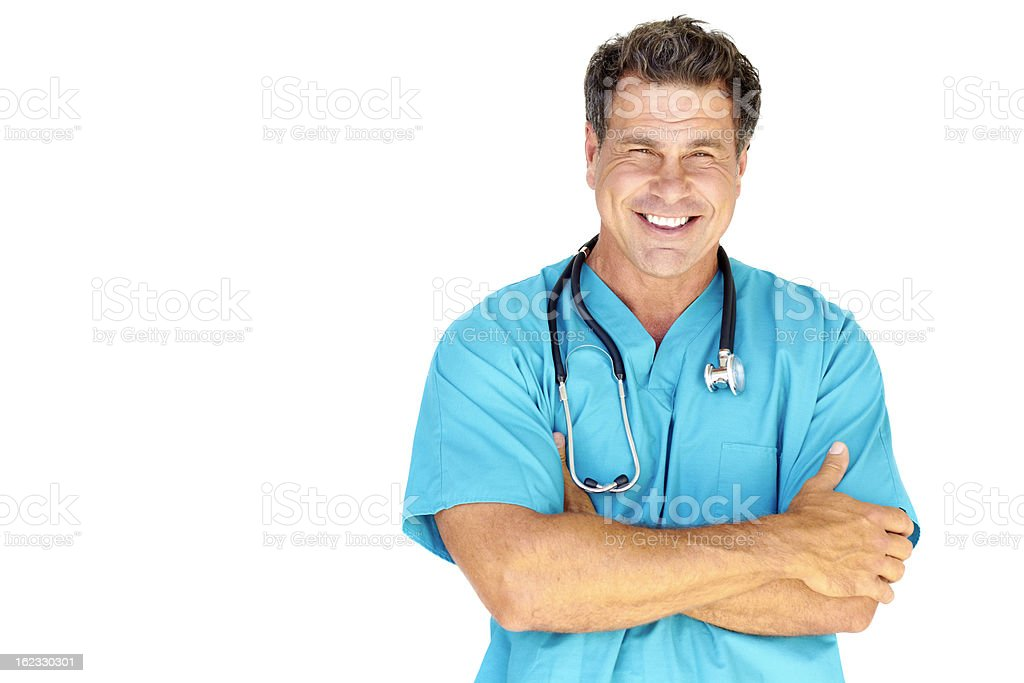 Happy Mature Male Doctor stock photo