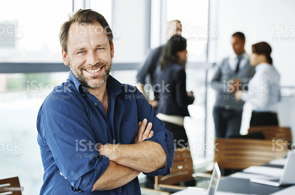 Happy Mature Male Executive stock photo