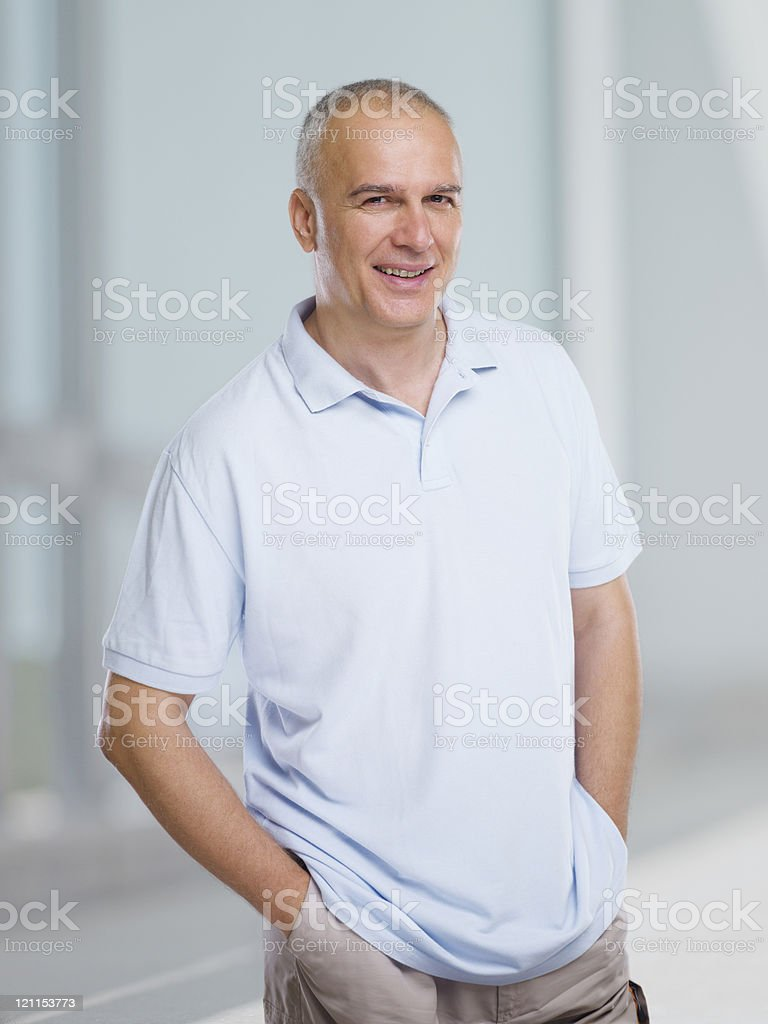 happy mature man royalty-free stock photo