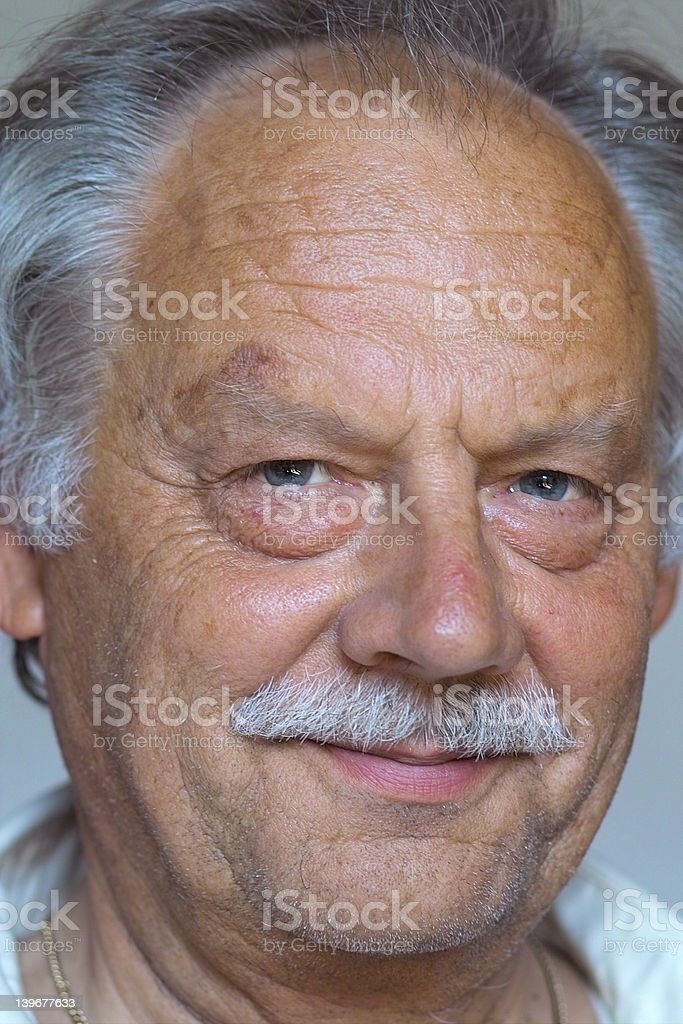 Happy mature man stock photo
