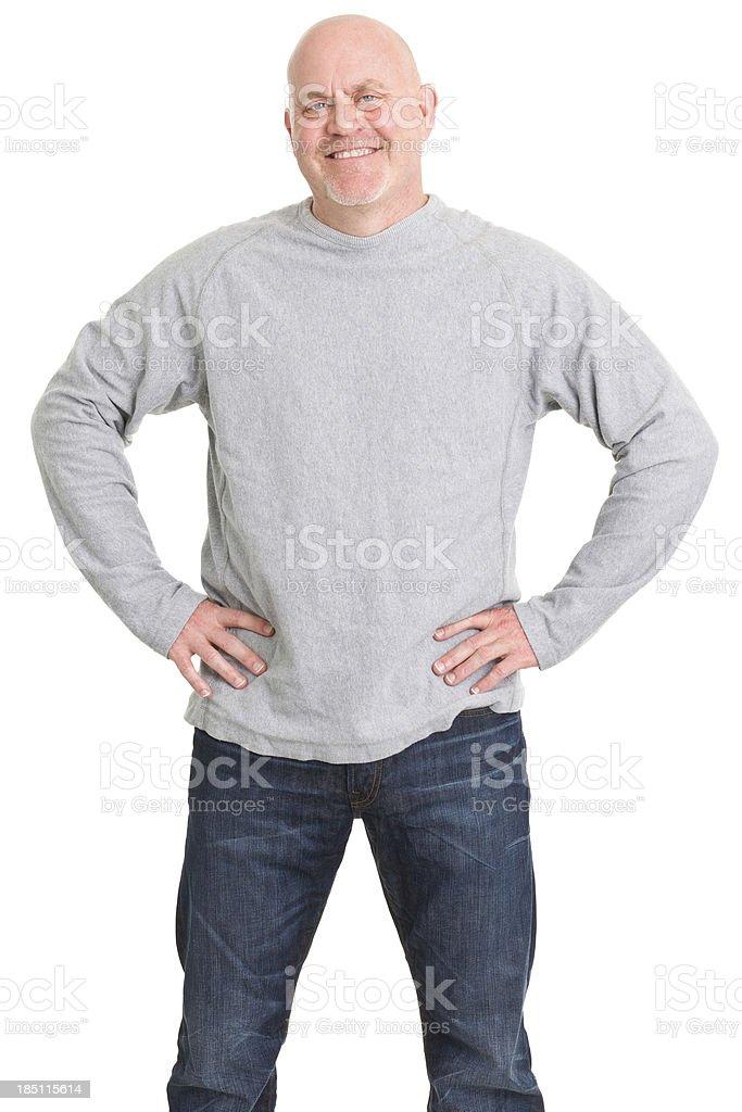 Happy Mature Man Standing royalty-free stock photo