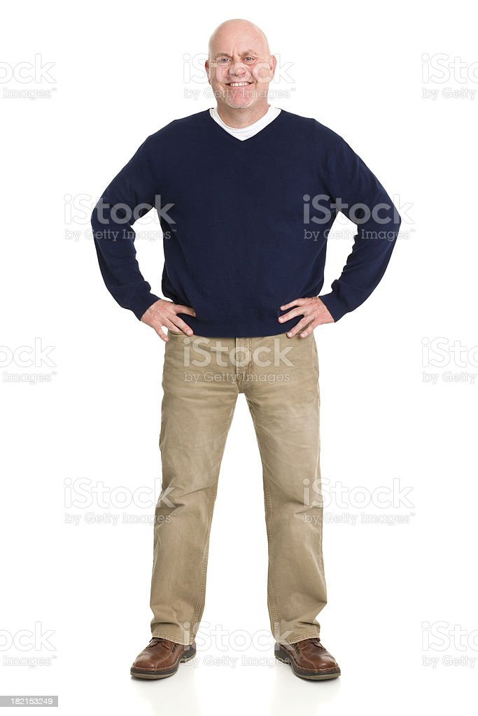 Happy Mature Man Standing Portrait royalty-free stock photo