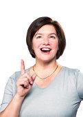 Happy Mature Woman Having An Idea