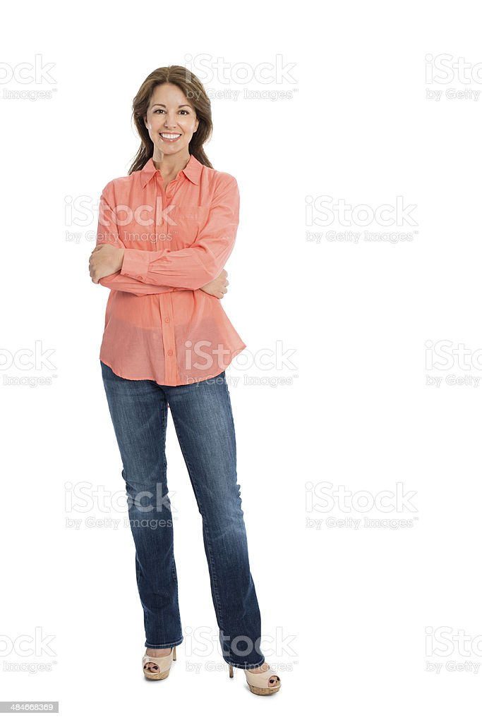 Happy Mature Woman Smiling stock photo