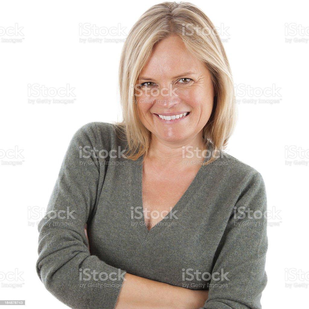 Happy mature women royalty-free stock photo