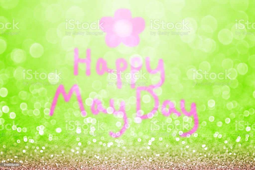 Happy May Day Background stock photo
