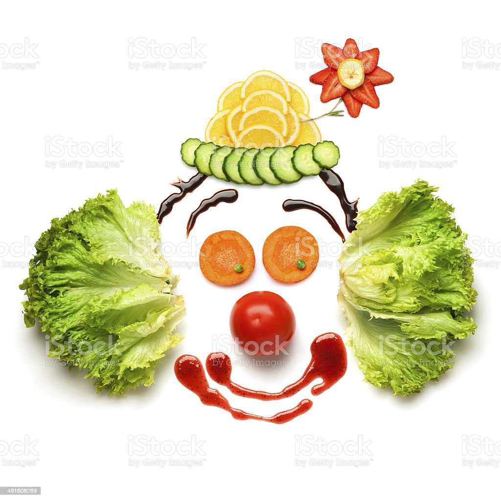 Happy meal for opponents of fast-food. stock photo