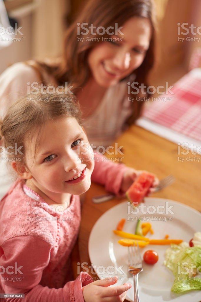 happy mealtime stock photo