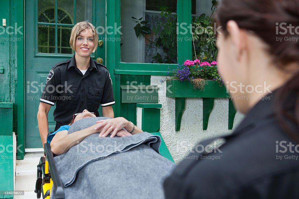 Happy Medical Emergency Worker royalty-free stock photo