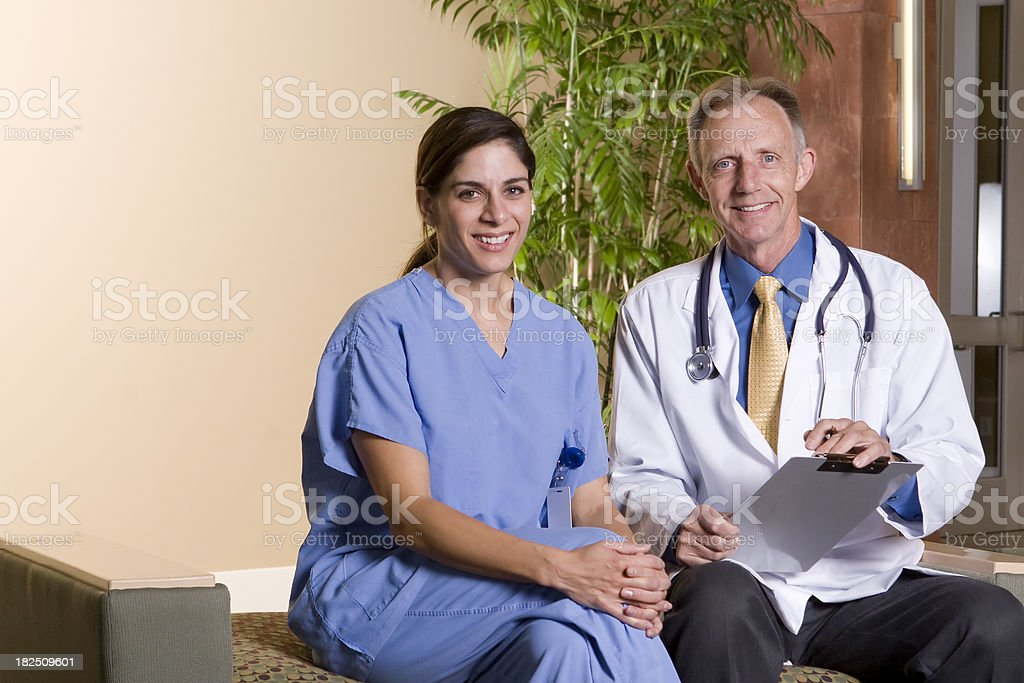 Happy medical professionals royalty-free stock photo