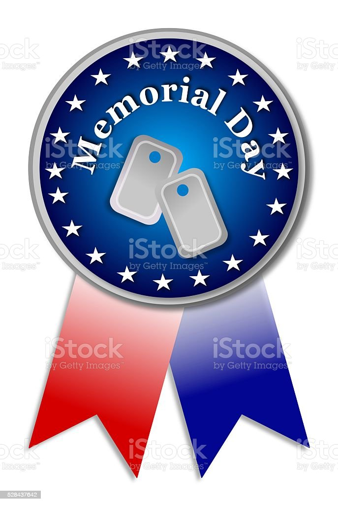 Happy Memorial Day sing on white background