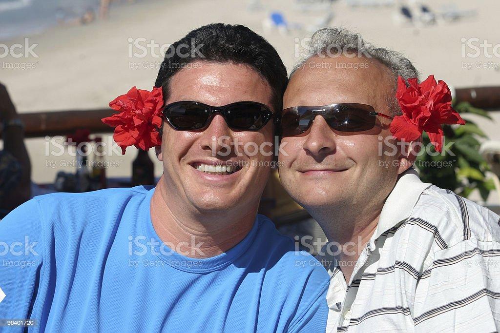 Happy men couple royalty-free stock photo