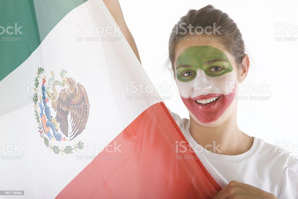 Happy Mexico fan royalty-free stock photo