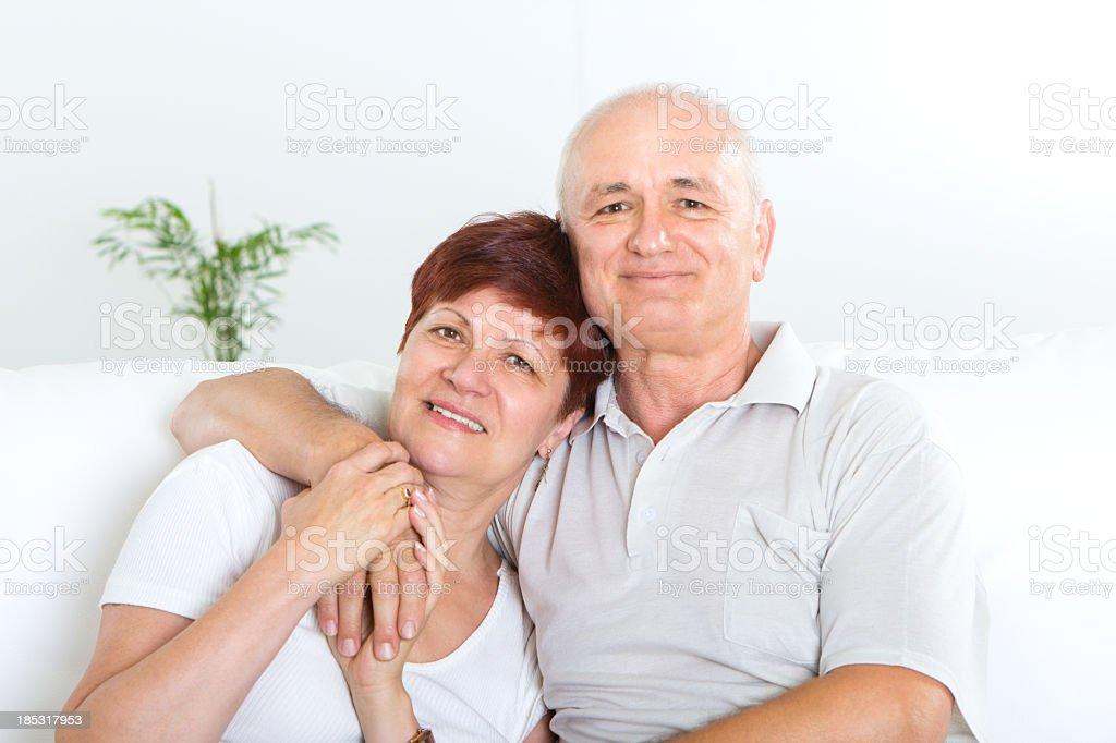 Happy mid adult couple royalty-free stock photo