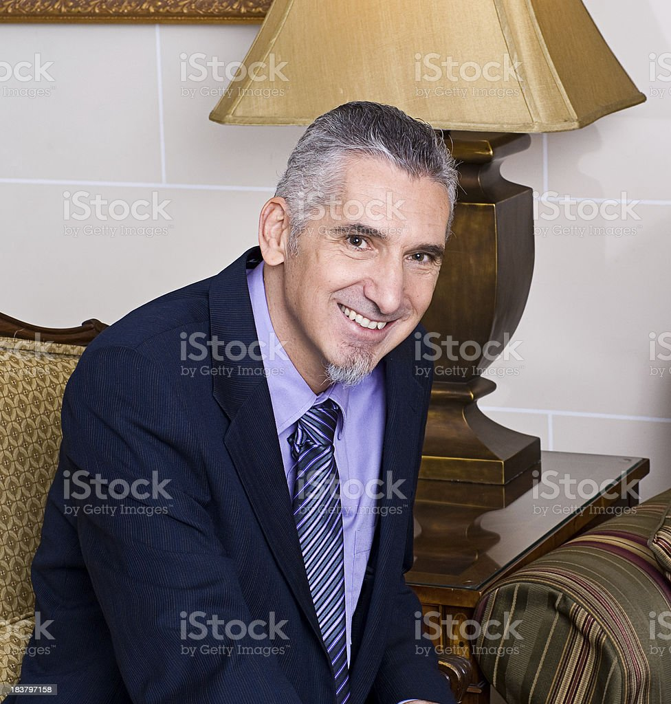 Happy Middle Aged Business Man stock photo
