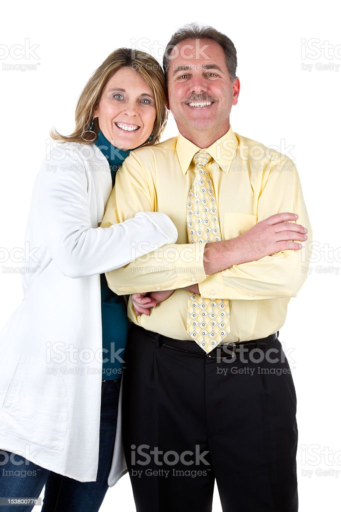 Happy Middle Aged  Couple royalty-free stock photo