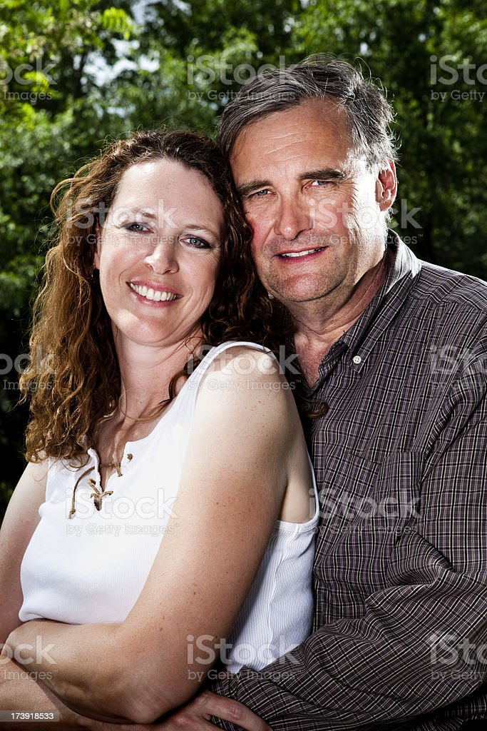 Happy middle ages couple portrait royalty-free stock photo