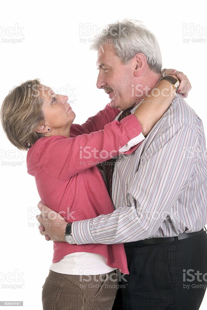 Happy middleaged couple royalty-free stock photo