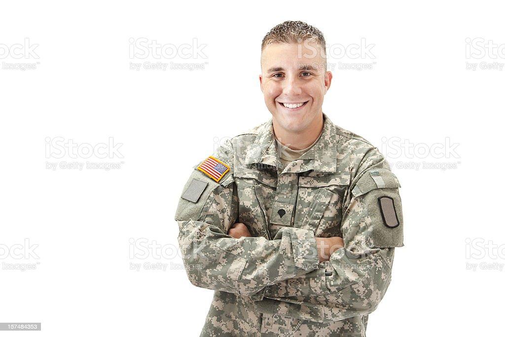 Happy Military Man royalty-free stock photo