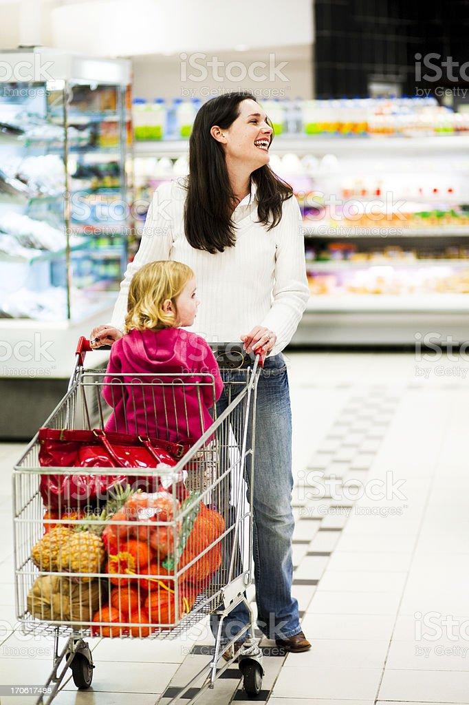 Happy mom shopping royalty-free stock photo