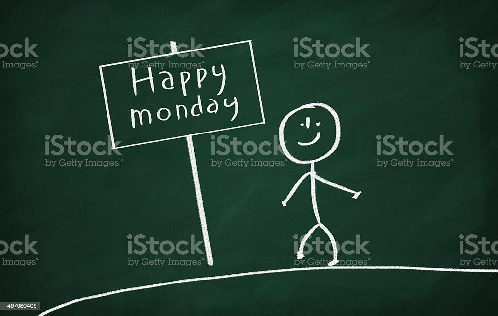 Happy monday stock photo