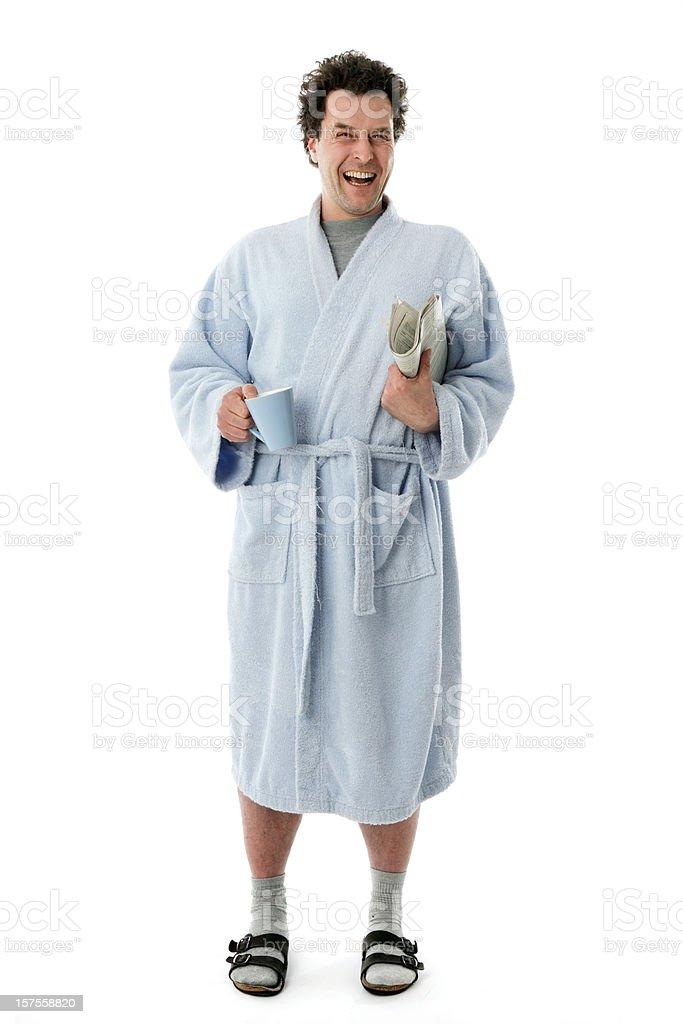 Happy Morning Man stock photo