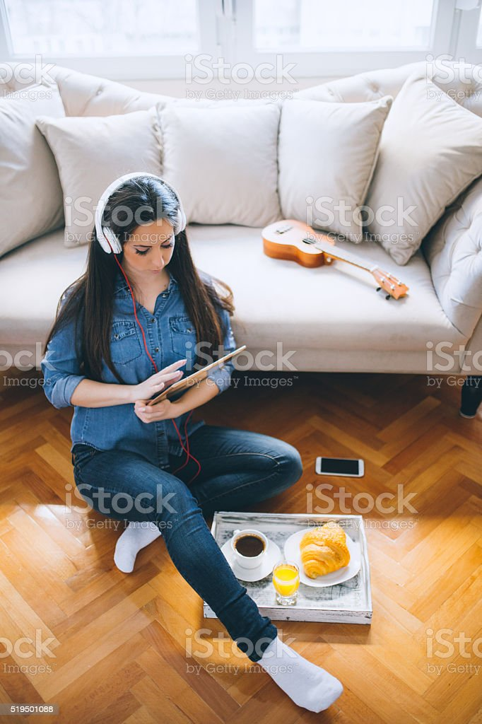 Happy mornings! stock photo
