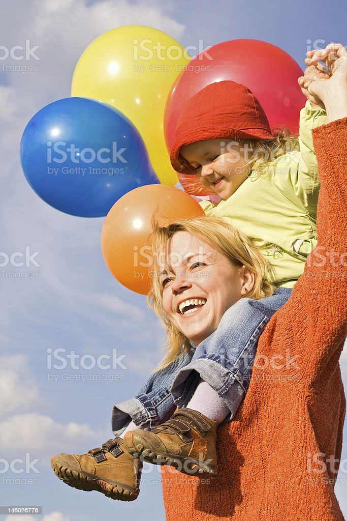Happy mother and child royalty-free stock photo