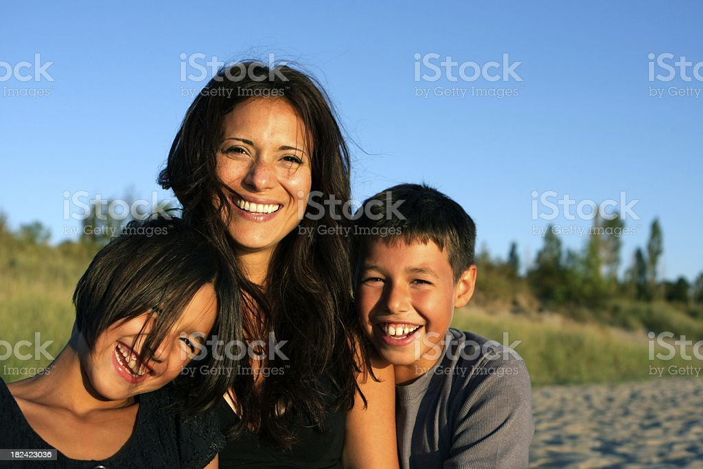Happy Mother and Children stock photo