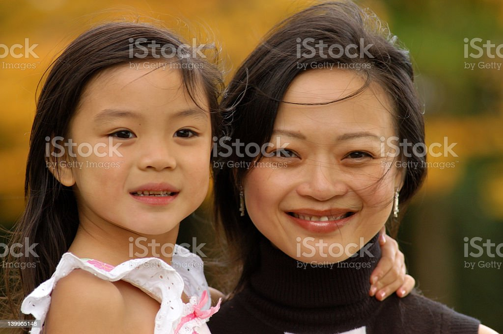 A happy mother and daughter image  royalty-free stock photo