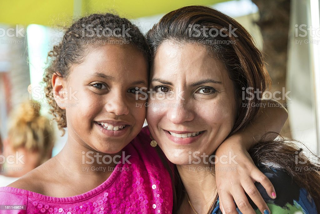 Happy mother and daughter stock photo