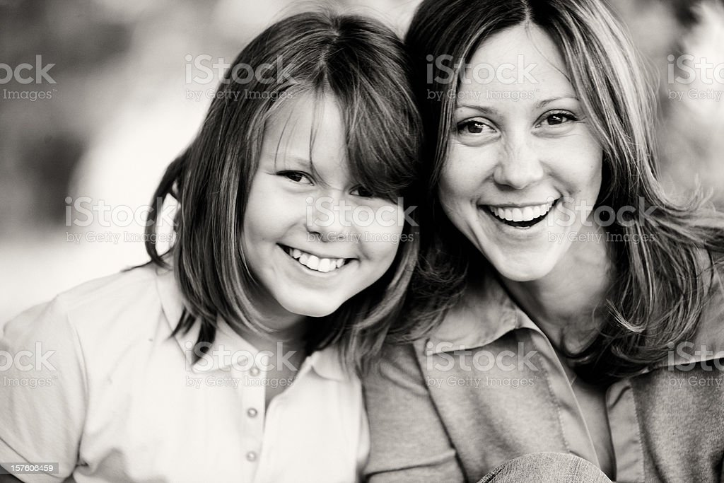 Happy Mother and Daughter Summer Portrait royalty-free stock photo