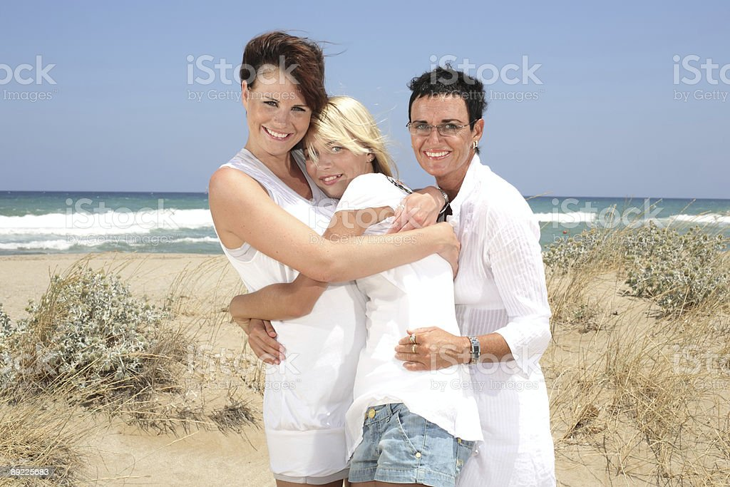 happy mother and daughters royalty-free stock photo