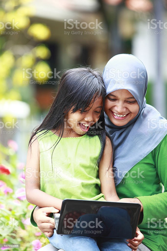 happy mother and her daughter royalty-free stock photo