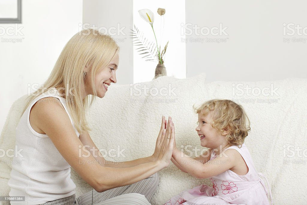 Happy mother with a daughter royalty-free stock photo