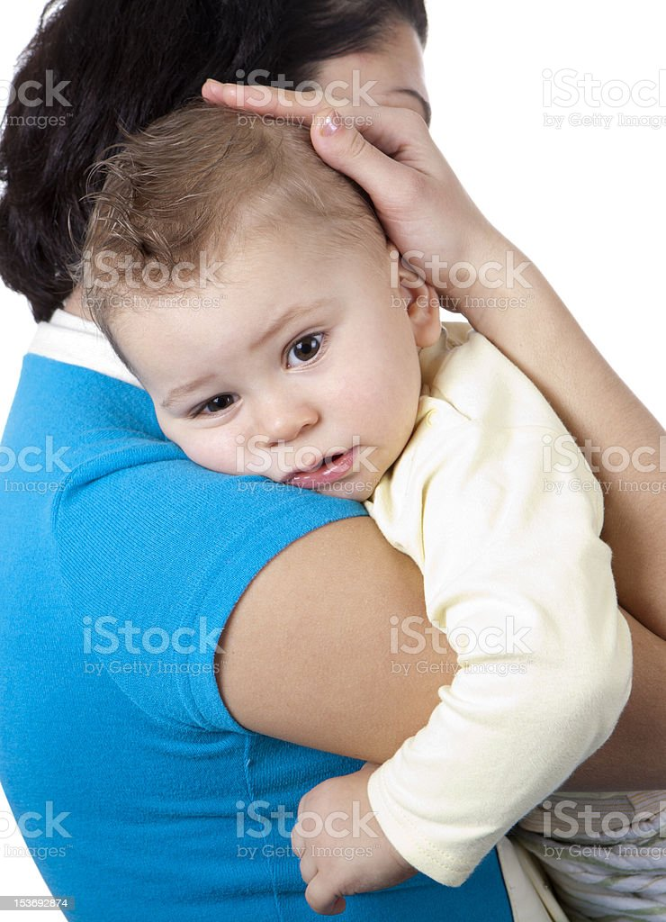 happy mother with baby boy royalty-free stock photo