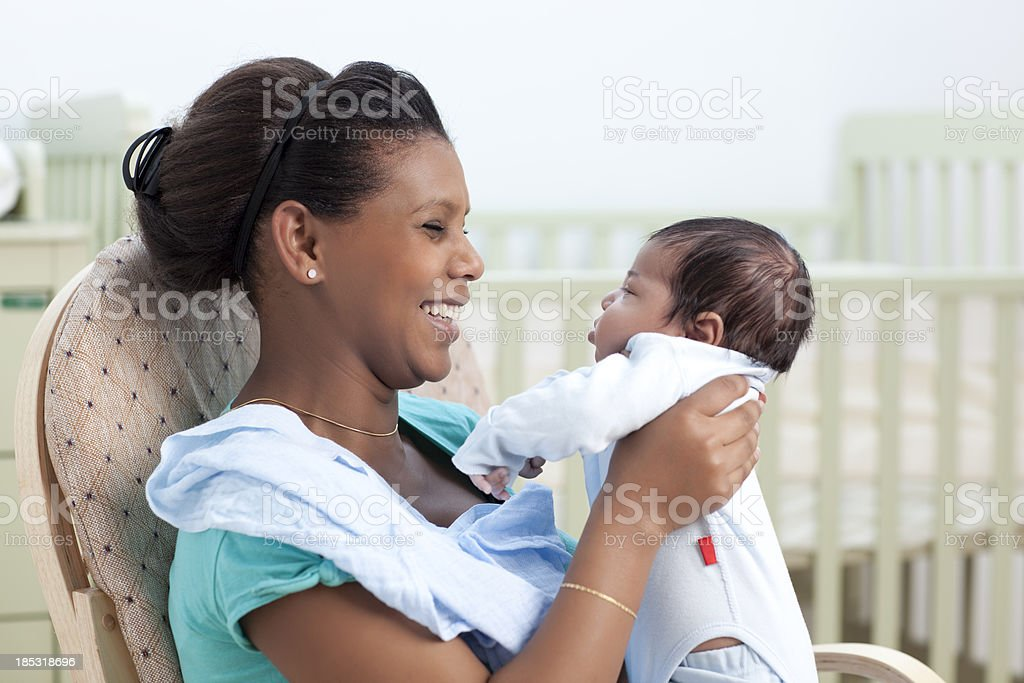Happy mother with baby. royalty-free stock photo