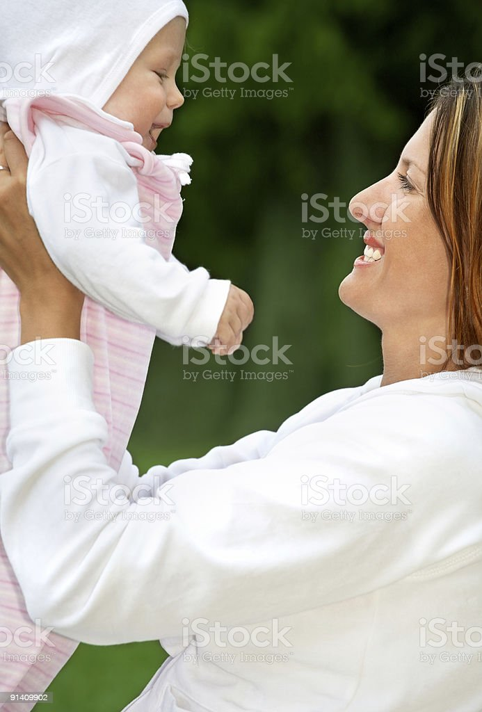 happy mother with baby royalty-free stock photo