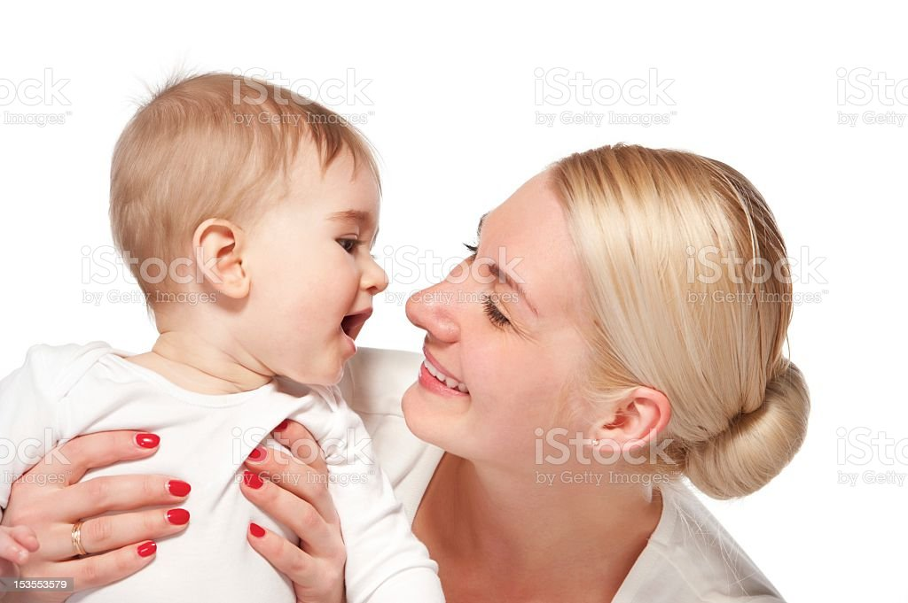 Happy mother with her baby royalty-free stock photo