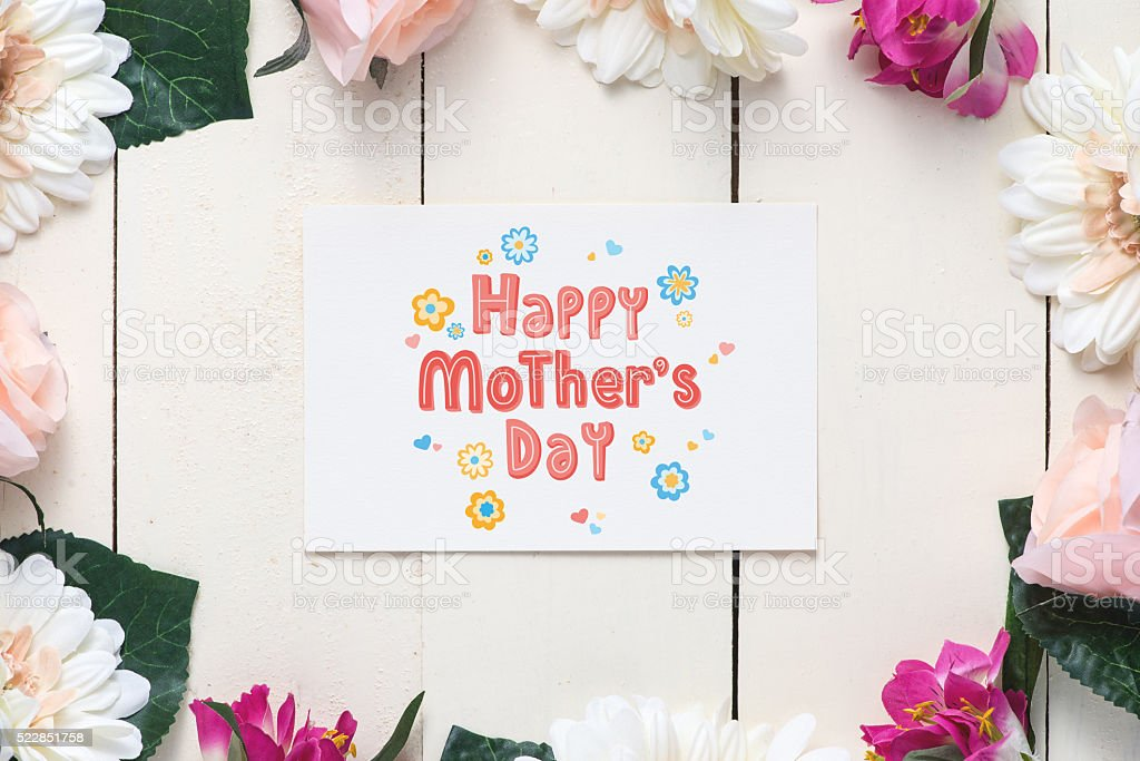 Happy Mother's Day Message stock photo