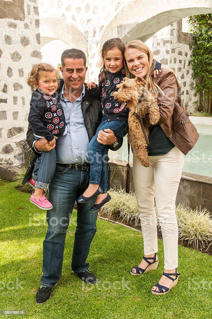 Happy Multi cultural family stock photo