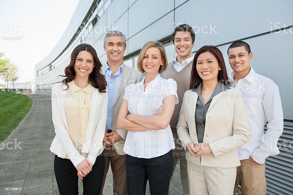 Happy Multi Ethnic Business Team stock photo