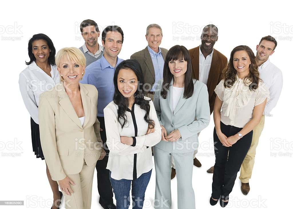 Happy Multi-Ethnic Business People Standing Together royalty-free stock photo