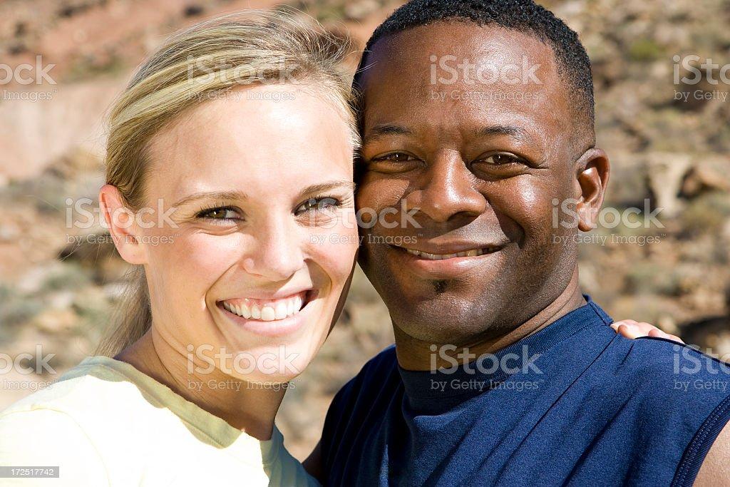 Happy Multi-Ethnic Couple royalty-free stock photo